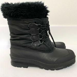 Sorel Waterproof Fur Lined Winter Snow Boots Black